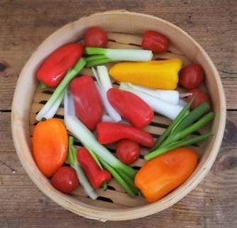 Kartoffel Zoodles, Gemüse im Gärkorb, Ajvar Feta Creme, Guacamole (7)
