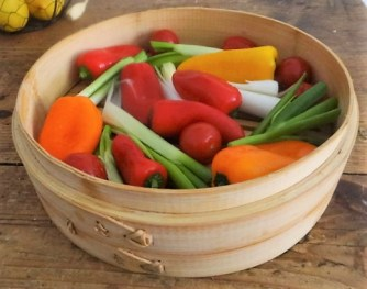 Kartoffel Zoodles, Gemüse im Gärkorb, Ajvar Feta Creme, Guacamole (8)