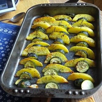 Ofen-Kartoffel-Zucchini,geräucherte Forelle (8)