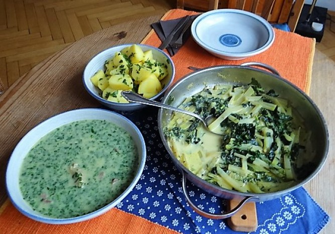 Rindfleisch in Petersiliensauce, Kohlrabigemüse,Salzkartoffeln (5)