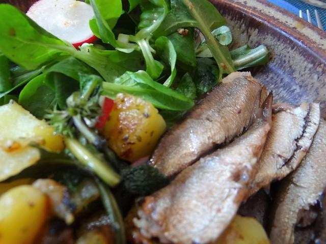 Bratkartoffel,Sprotten,Salat (3)