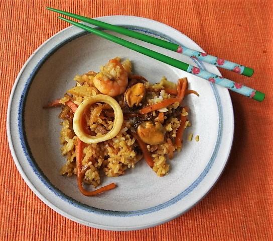 Nasi Goreng mit Meeresfrüchten,Dessert (2)