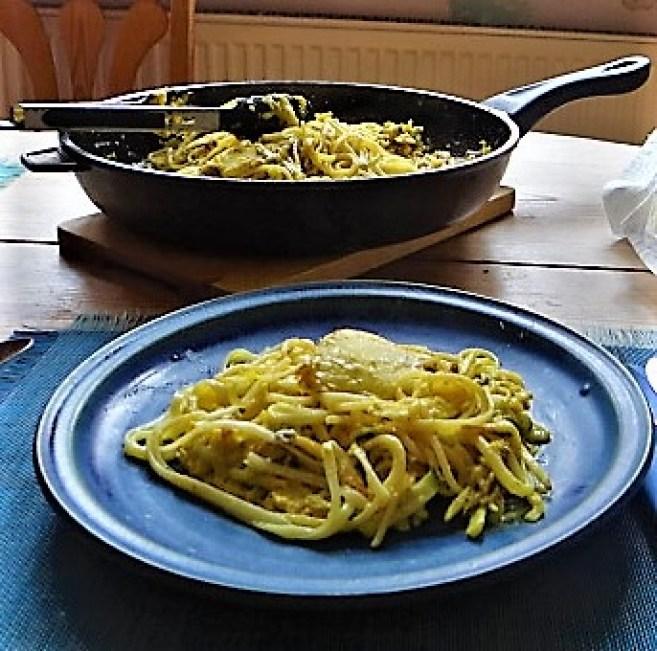 Pastinaken-Zucchini Zoodles,Spaghetti,Gorgonzolasauce (3)