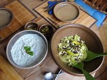 Krautsalat,Tzatziki,Kartoffelspalten,Hackbällchen (20)