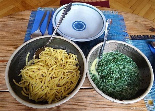 Brennessel mit Gorgonzola und Spätzle (4)