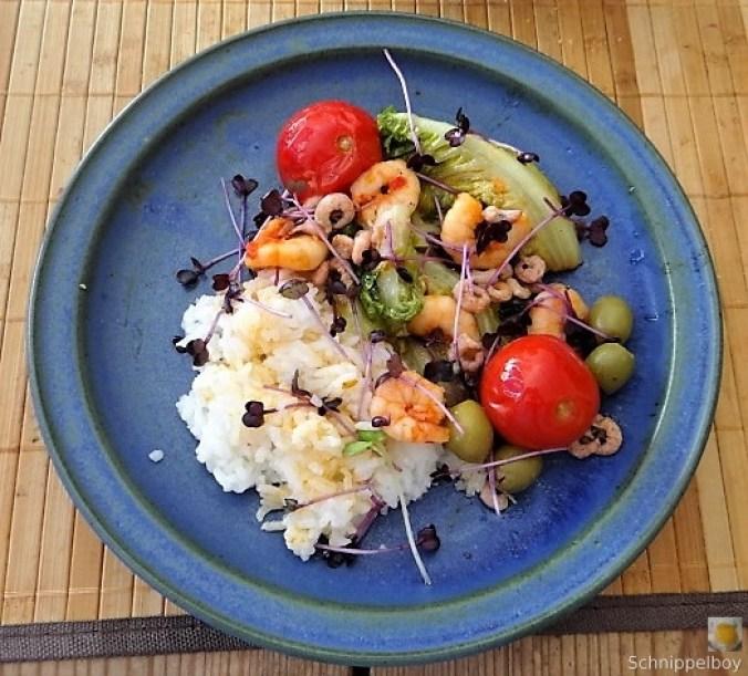 Gebratener Salat-Nordseekrabben und mehr (1)