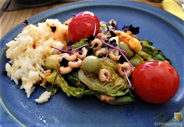Gebratener Salat-Nordseekrabben und mehr (4)