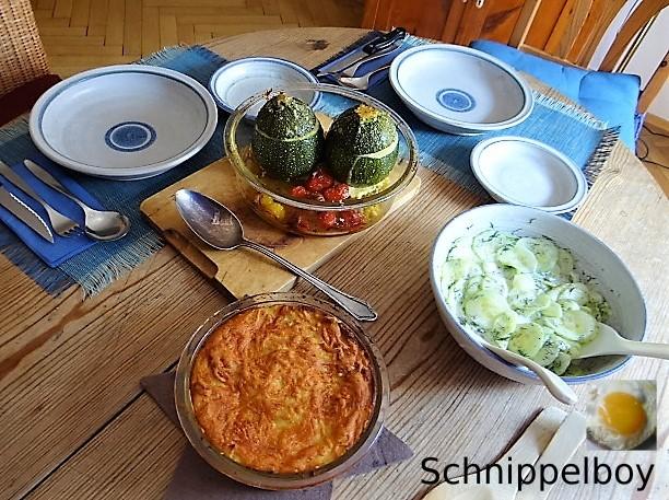 Gefüllte Zucchini mit Kartoffelauflauf (19)