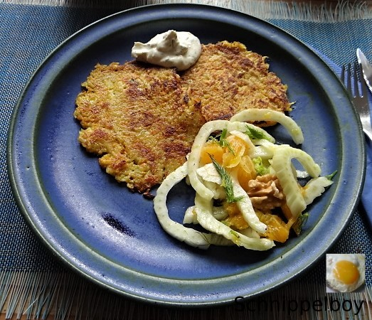 Kartoffel-Möhren Pupper mit Quark Dip und Fenchelsalat (1).JPG