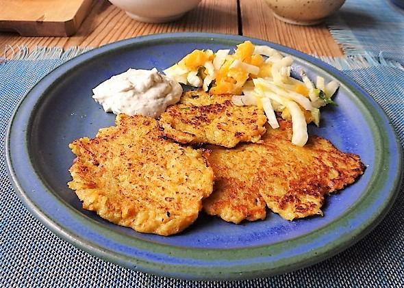 Kartoffel-Möhren Pupper mit Quark Dip und Fenchelsalat (2)