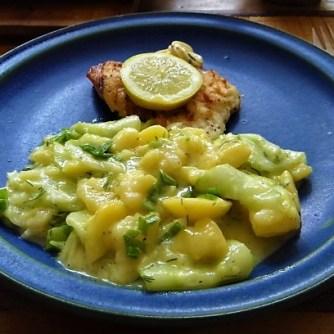 Rotbarsch,Kartoffel-Gurkensalat (21)