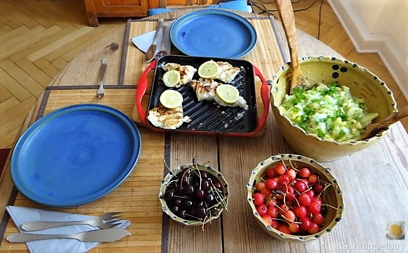 Rotbarsch,Kartoffel-Gurkensalat (4)