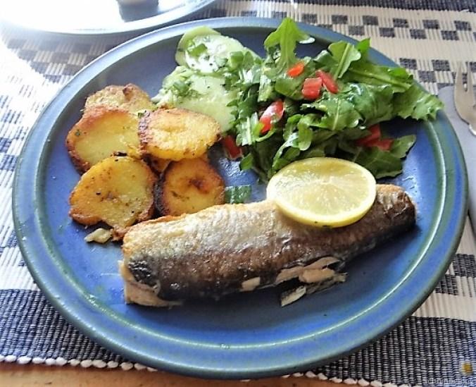 Grüner Hering,Salate,Bratkartoffel (1)