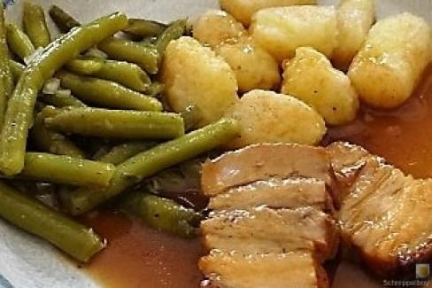 Bauchfleisch,Gnocchis,Bohnensalat (3)
