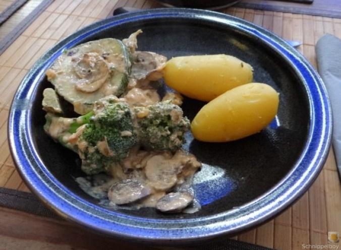 Brokkoli,Zucchini,Pilze in Labneh (16)
