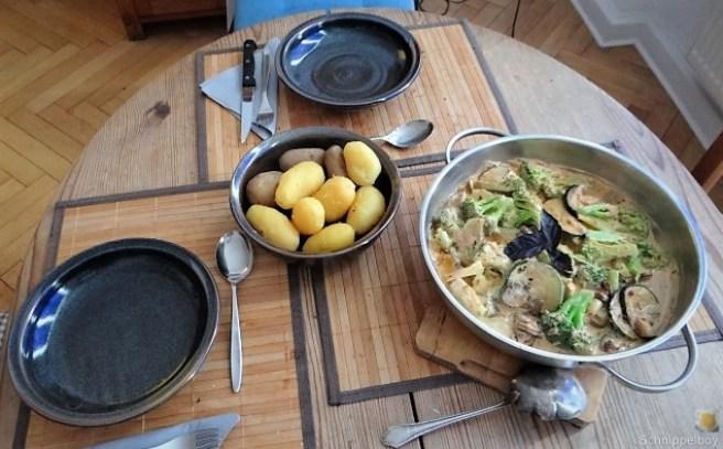 Brokkoli,Zucchini,Pilze in Labneh (4)