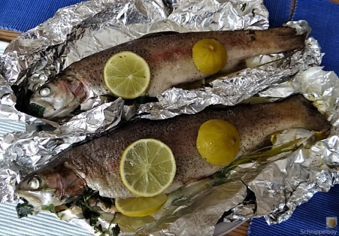 Forelle mit Petersilienkartoffel, Meerrettichdip und Salat (11).JPG