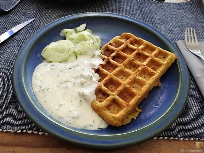 Käse_Schinkenwaffel mit Joghurt-Zitronen-Dill Dip (17)