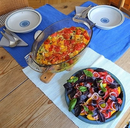 Polenta mit Babyspinat und Tomaten (5)