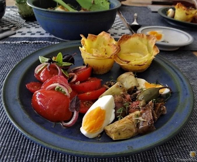 Thunfisch-Eiersalat mit Kartoffelrosen (16)
