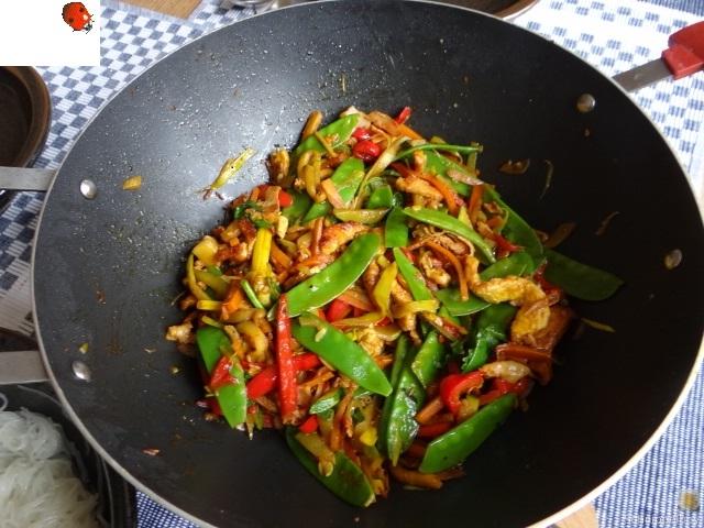 Wokgemüse mit Reisnudeln und Fleisch (14)