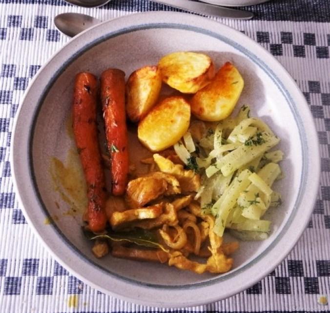 Geschnetzeltes, Kohlrabi,Karotten,Ofenkartoffeln (2)