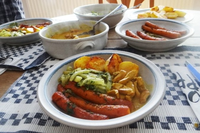 Geschnetzeltes, Kohlrabi,Karotten,Ofenkartoffeln (4)