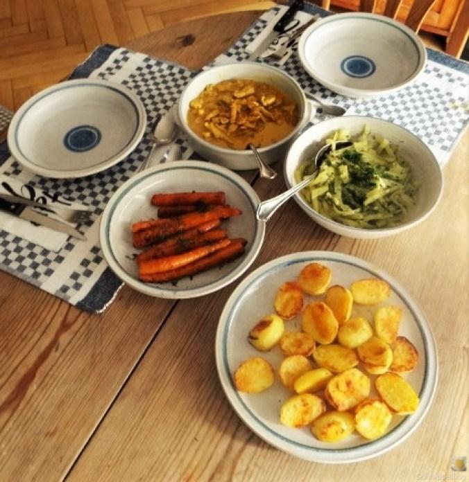 Geschnetzeltes, Kohlrabi,Karotten,Ofenkartoffeln (5)