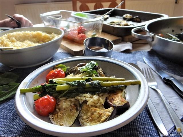 Knoblauchgrün,Gemüse,Kritharaki (20)