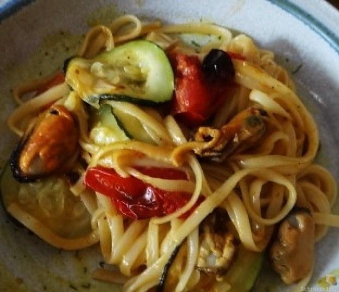 Linguine,geschmorte Tomaten,Miesmuscheln (20)