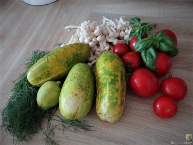 Schmorgurke, Tomatenragout, Meeresfrüchte (7).JPG