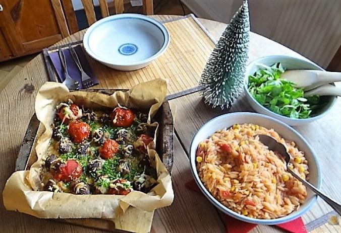 Campignon und Tomaten, Kritharaki (14)