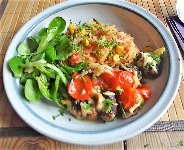 Campignon und Tomaten, Kritharaki (15)