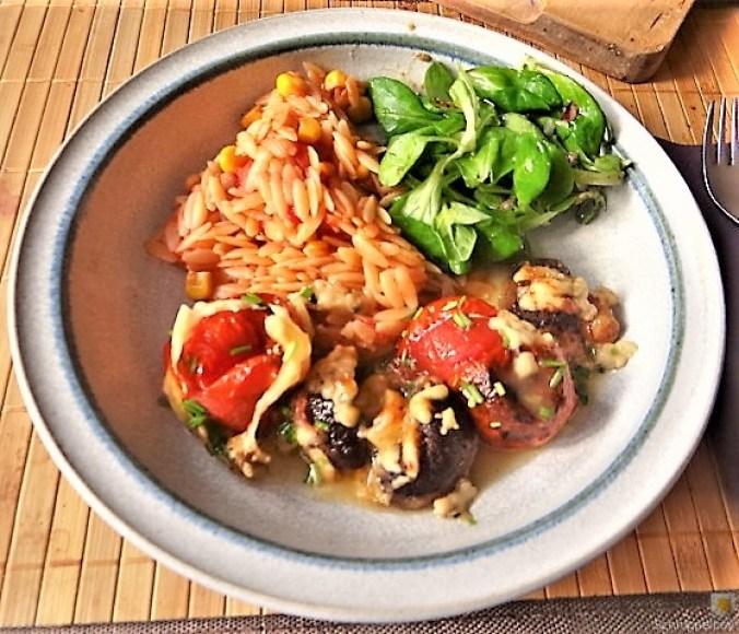Campignon und Tomaten, Kritharaki (16)