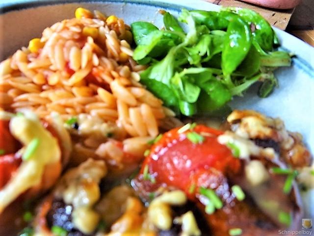 Campignon und Tomaten, Kritharaki (3)
