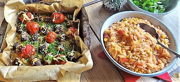 Campignon und Tomaten, Kritharaki (4)