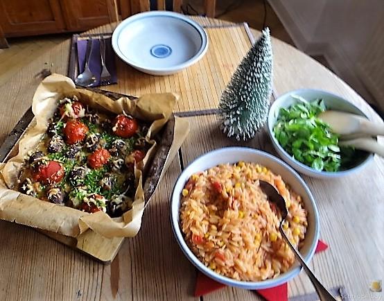 Campignon und Tomaten, Kritharaki (5)