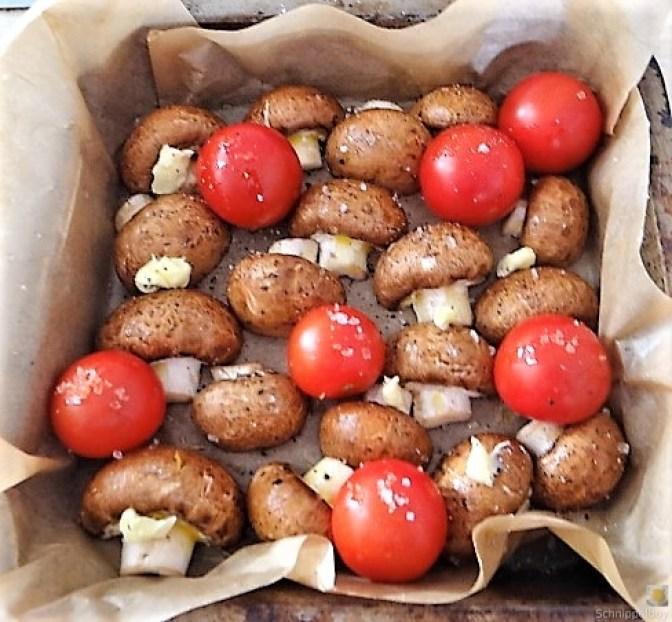 Campignon und Tomaten, Kritharaki (7)