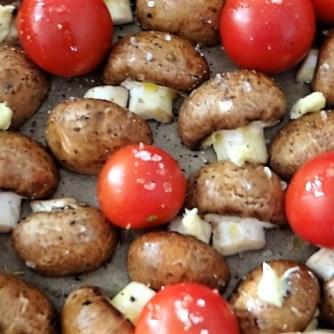 Campignon und Tomaten, Kritharaki (8)