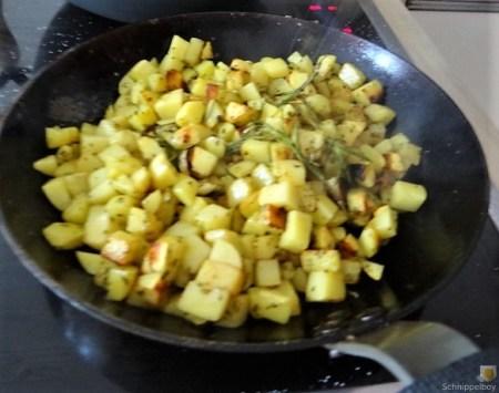 Chinakohl und roh gebratene Kartoffeln (38)