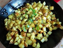 Chinakohl und roh gebratene Kartoffeln (40)