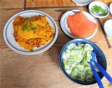 Kürbisrösti,Lachs,Salat,Rhabarberkompott (18)