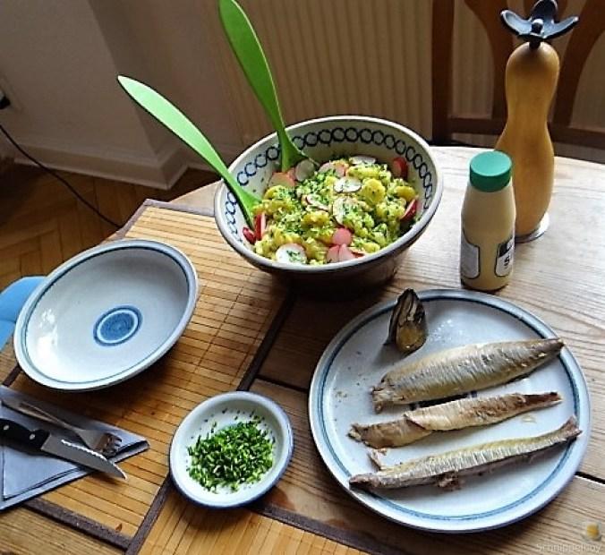 Kartoffelsalat und Makrele (4)