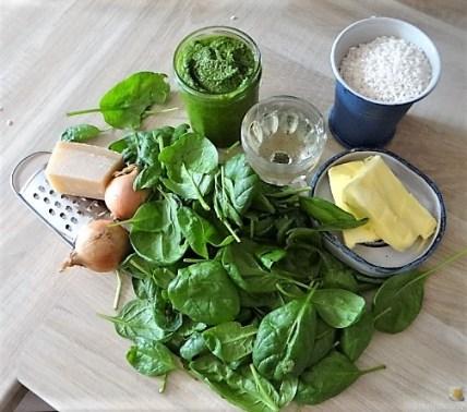 Risotto mit Safran, Salzzitrone und Spinat (8)