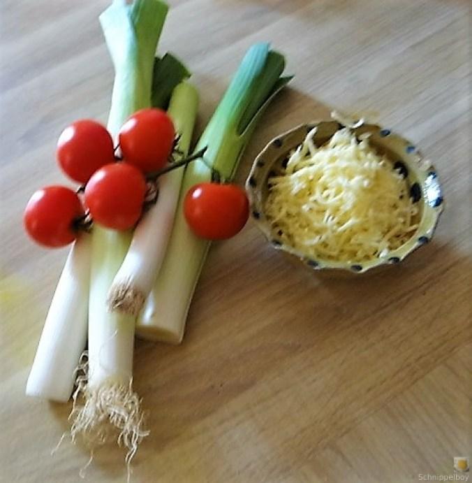 Lauchgratin und Kartoffelspalten (7)