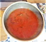 Linguine, scharfe Tomatensauce, Muschelragout (14)