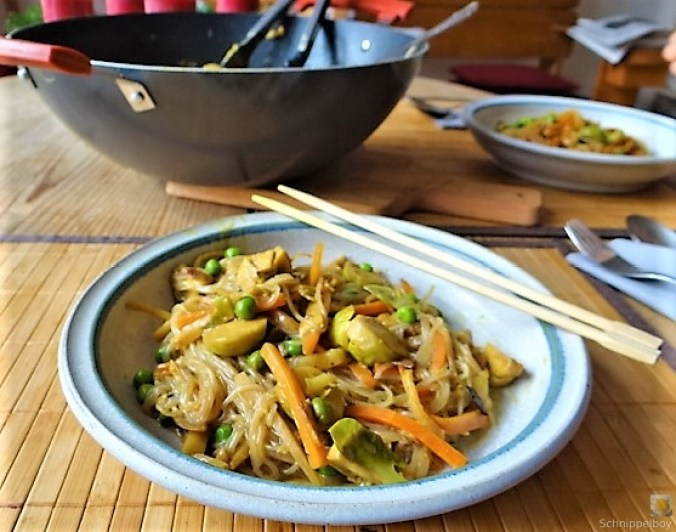 Wokgemüse mit Glasnudeln (4)