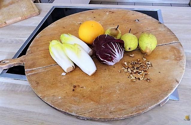 Chicoree,Radiccio,Birne und Grapefruit (5)