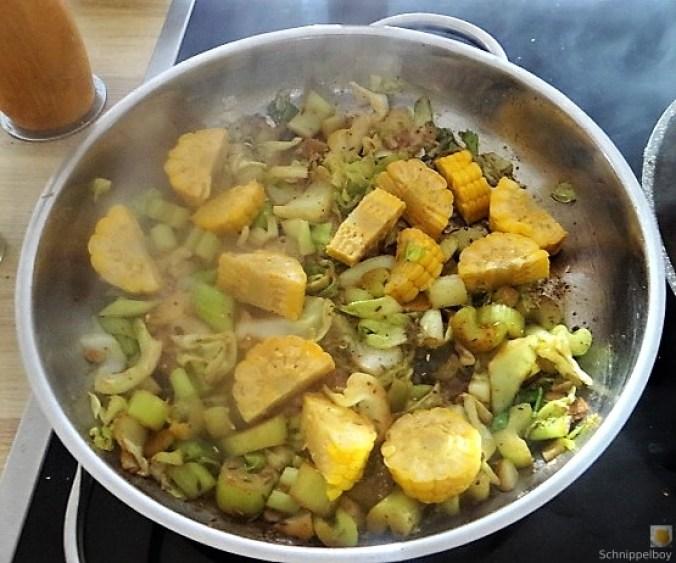 Gemüse und Hackbällchen orientalisch (11)