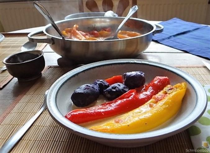 Spitzpaprtka in Wein, blaue Kartoffel (4)